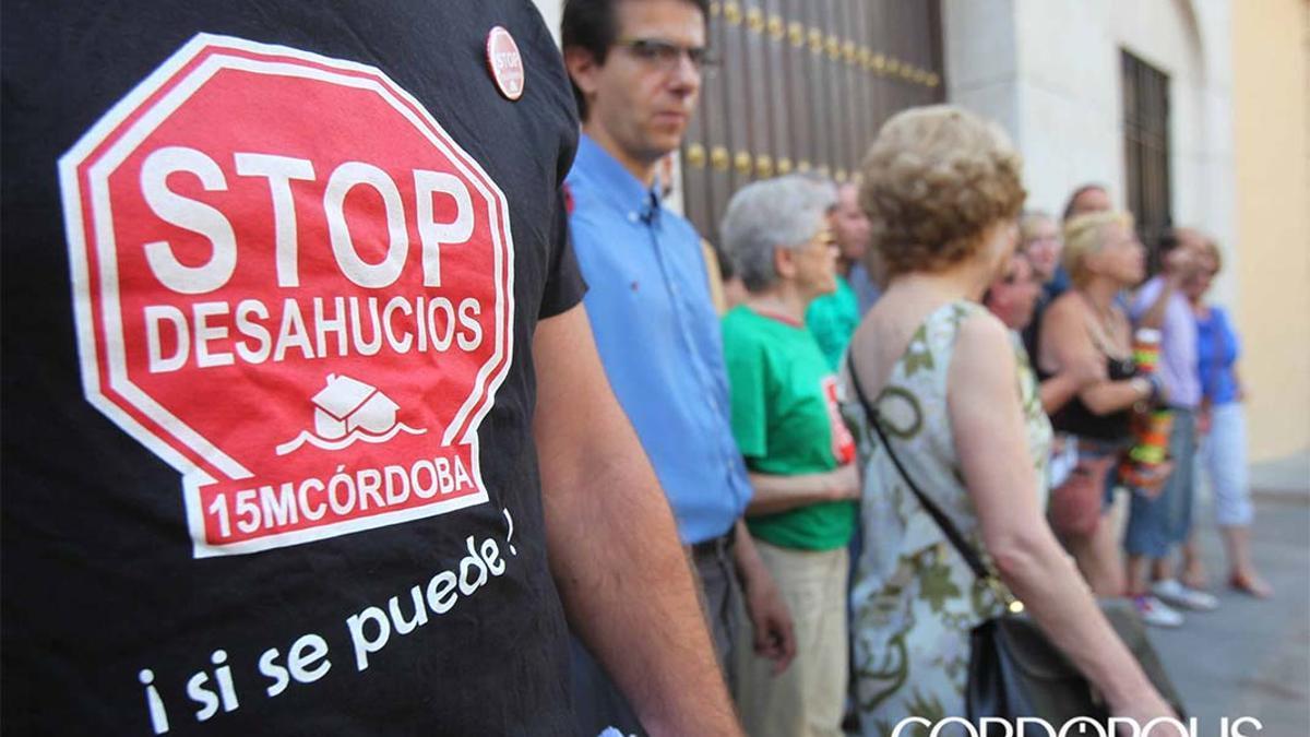 Imagen de archivo de una concentración de Stop Desahucios.