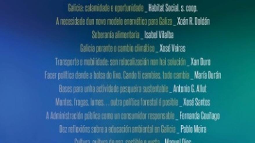 Portada del libro 'Ecoloxía Política. Olladas dende Galicia'