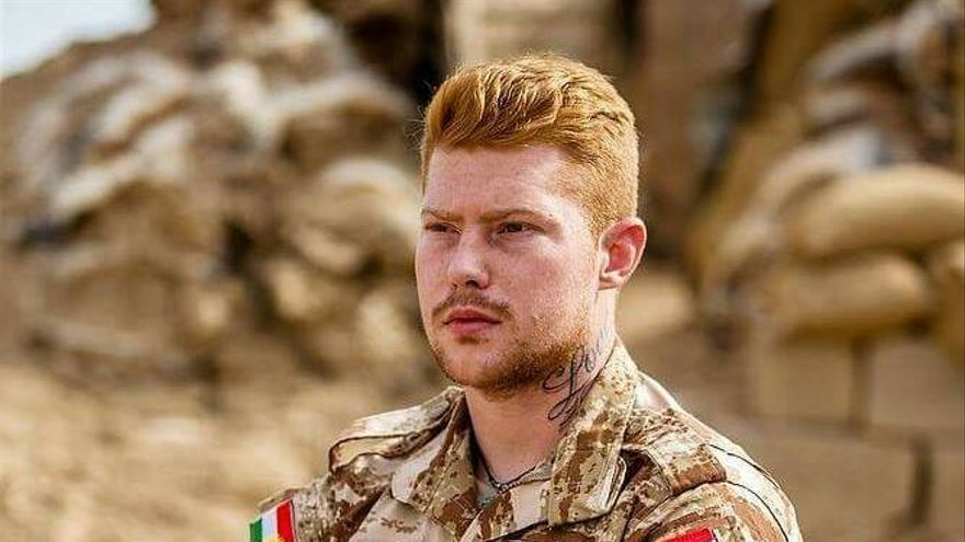 Joe Robinson en Makhmour, en el Kurdistán iraquí