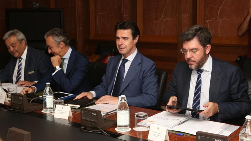 Víctor Calvo Sotelo, Miguel Ferre Navarrete, José Manuel Soria y Alberto Nadal (ALEJANDRO RAMOS)