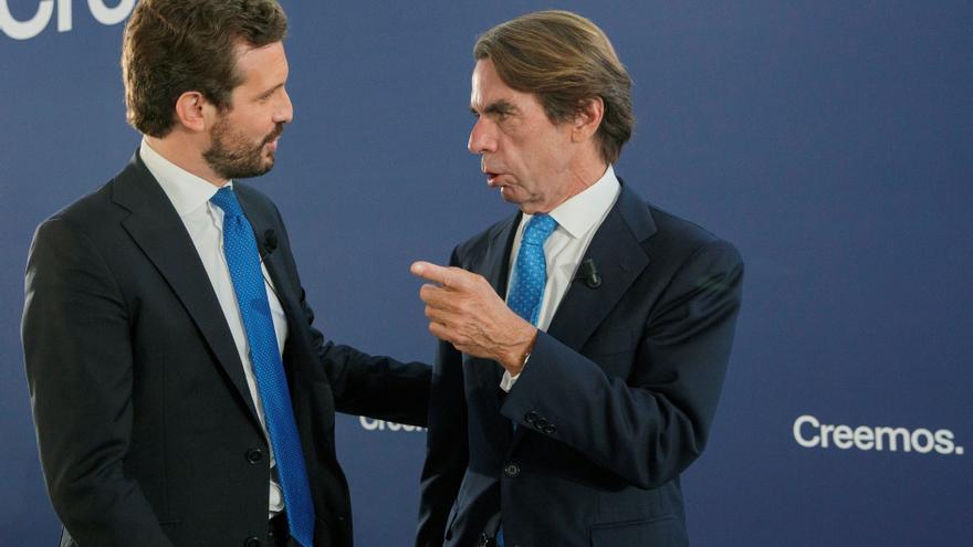 Aznar a Casado: Vas a ser presidente del Gobierno y lo vas a hacer bien