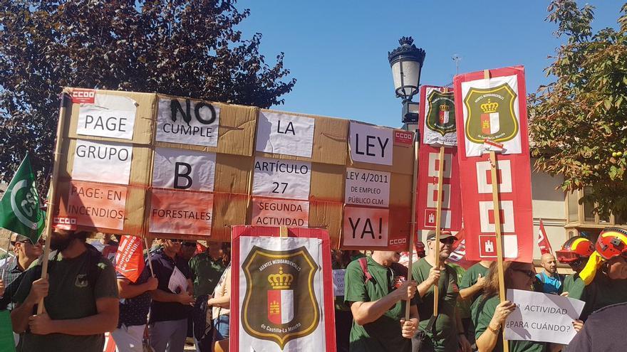 Manifestación de los agentes medioambientales. Foto: Rosario Martínez | CCOO