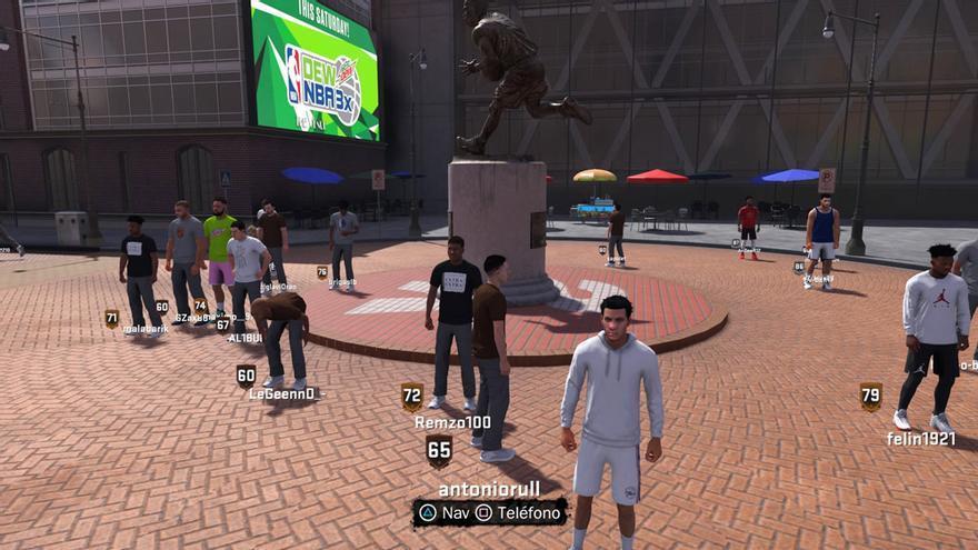El barrio es una de las grandes novedades del modo Carrera en NBA 2K18