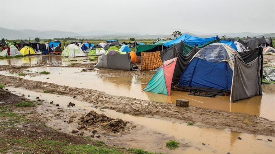 El mal tiempo en Grecia empeora las condiciones de los refugiados de Idomeni