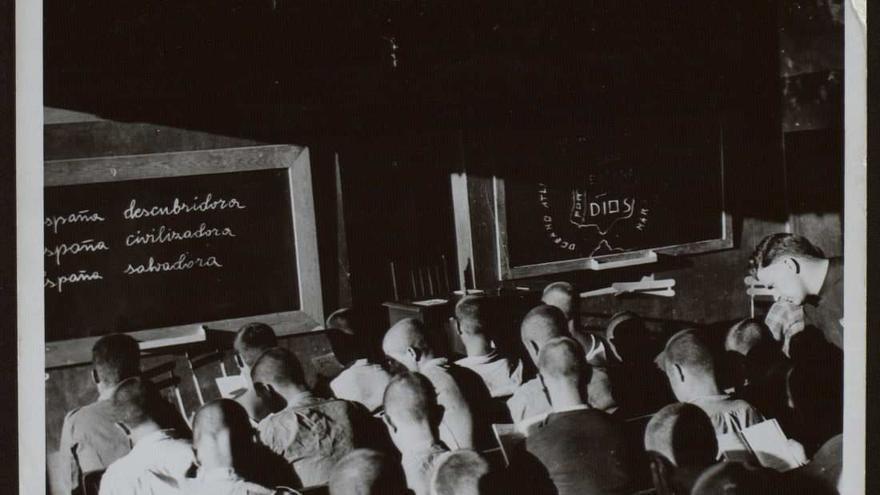 Campo de Concentración del Seminario de Monte Corbán, Santander, agosto de 1938.