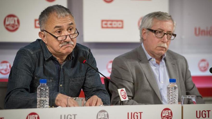 CCOO y UGT exigirán el Primero de Mayo cerrar cuanto antes un pacto salarial