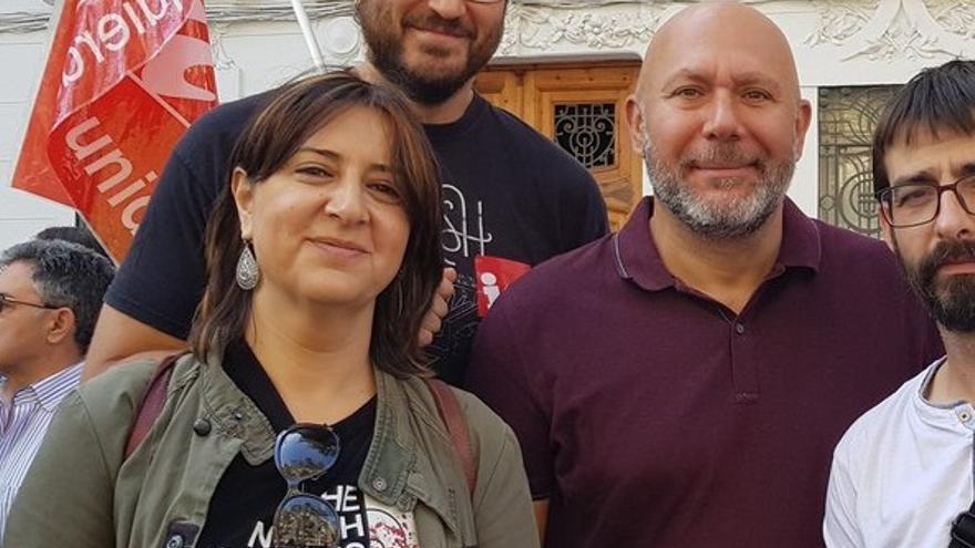 Rosa Pérez Garijo, que encabezará la lista de EUPV, y Ricardo Síxto, miembro de la corriente crítica interna