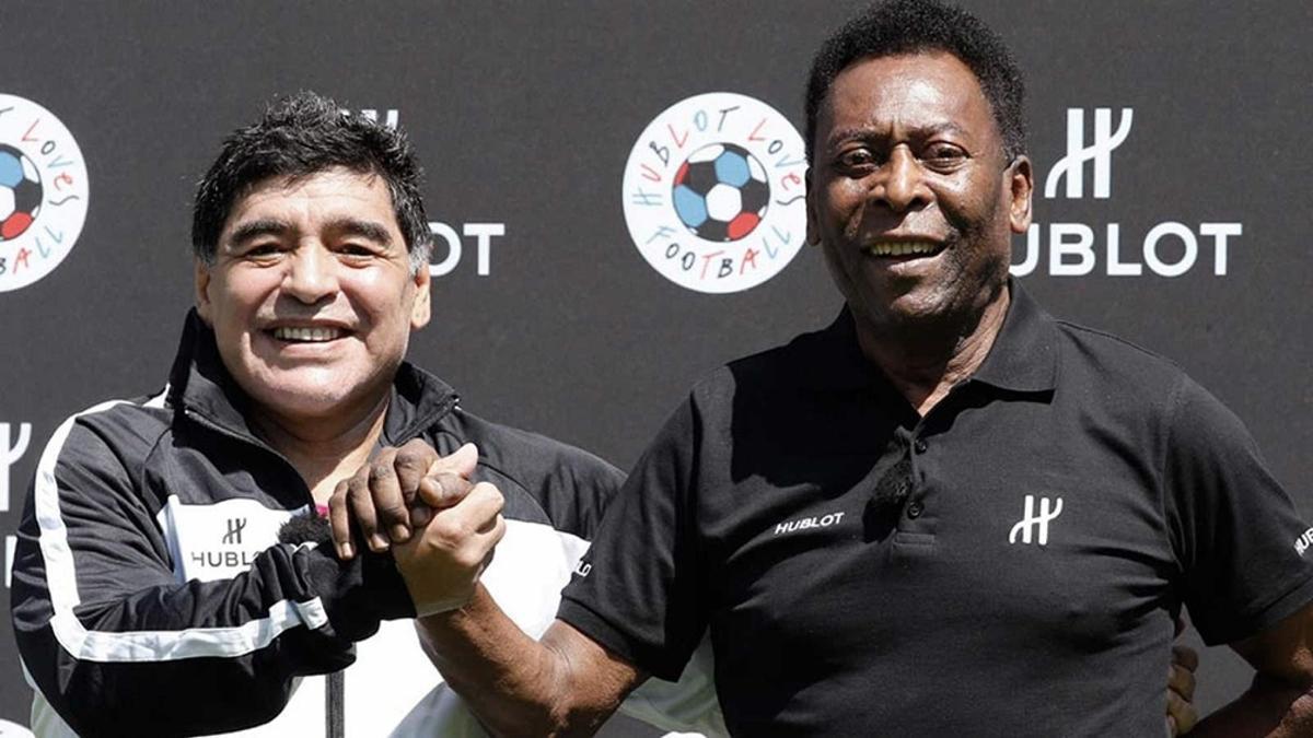 Pelé, emocionado por el homenaje a Diego Maradona en Brasil, en la Copa América