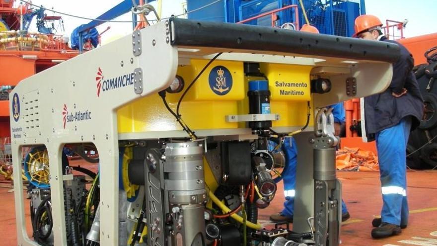 Robot (ROV) de Sasemar que se ha empleado en la búsqueda del tripulante desaparecido.