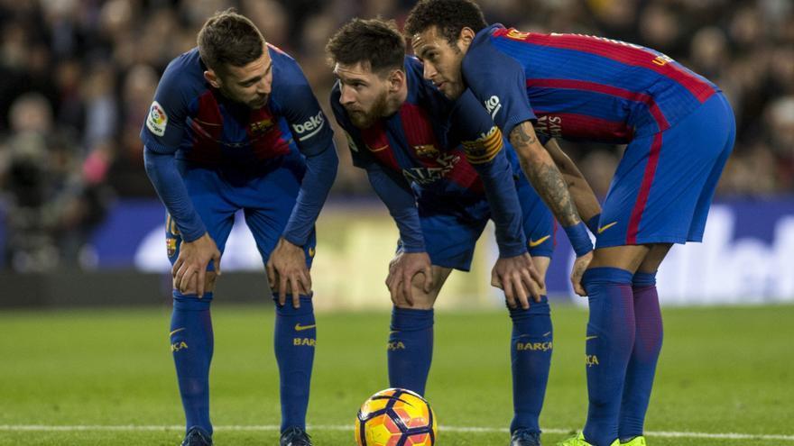 Buena parte de las opciones del Barça pasarán por las botas de Messi y Neymar.