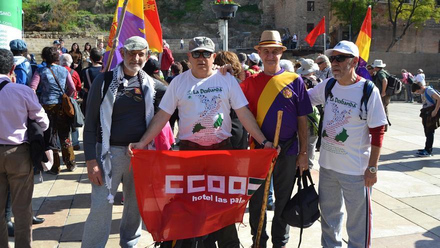 Participantes en la marcha, poco antes de salir de Málaga | N.C.