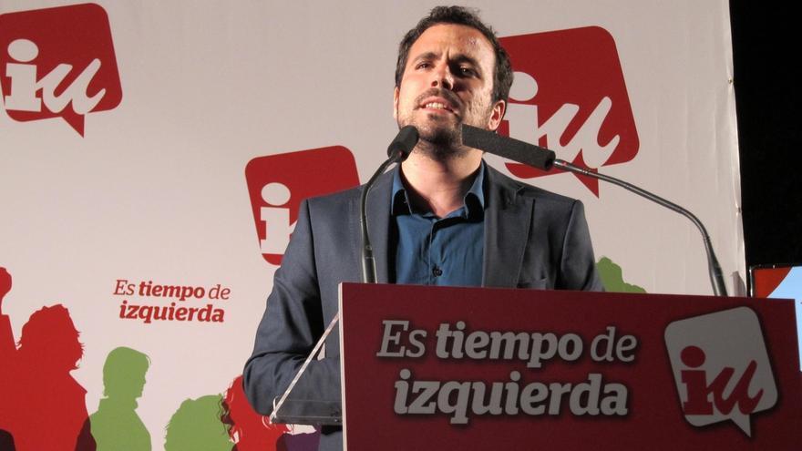 """Garzón (IU): """"El PP es una trama de corrupción que se presenta a las elecciones"""""""