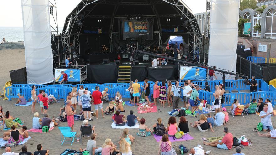Celebración del Maspalomas Soul Fetsival en la Playa de San Agustín.