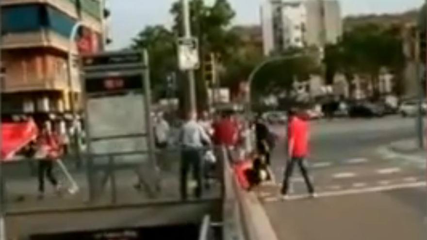 Captura de pantalla de la agresión