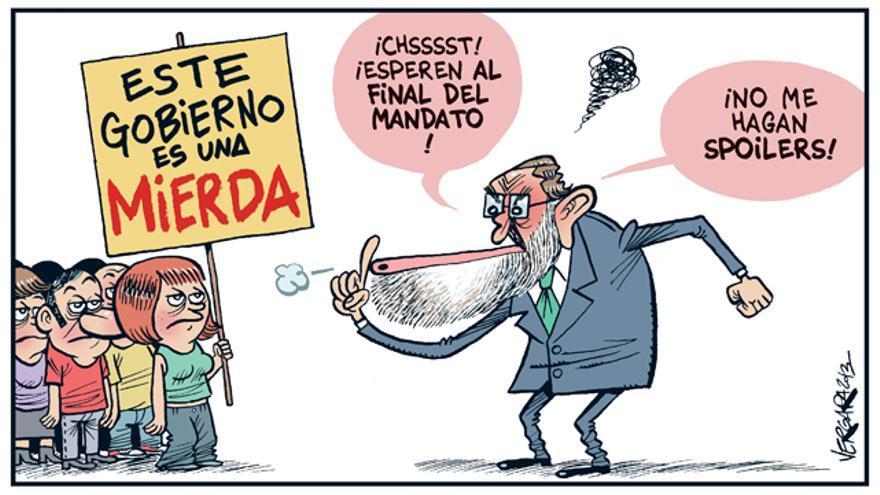 Rajoy pide no valorar la gestión hasta que acabe su mandato