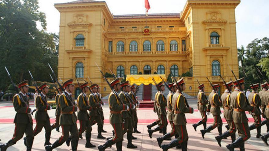 Palacio presidencial de Vietnam./ Fotografía: Paul Morse.