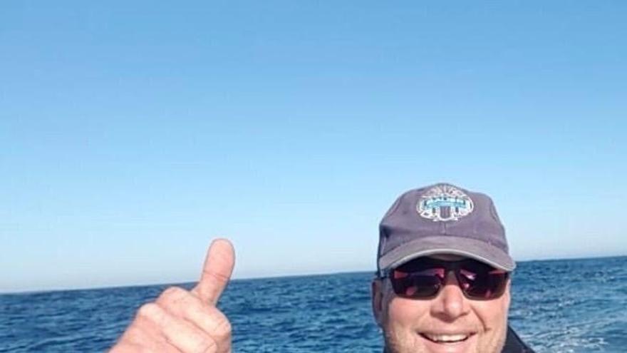 El submarinista alemán de 52 años Rainer Schimpf