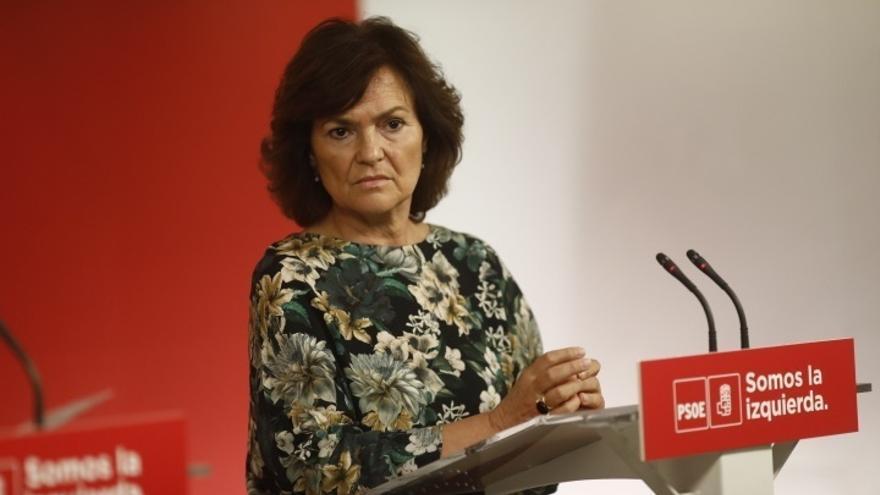 Calvo(PSOE) pide coherencia a Puigdemont y dialogue después del voto a favor de PDeCAT a la Comisión Parlamentaria
