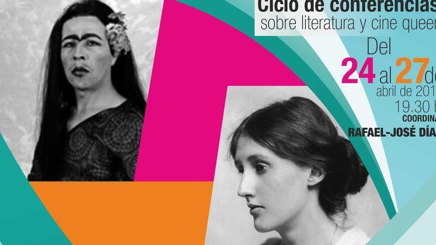 Cartel del ciclo de conferencias sobre literatura y cine queer