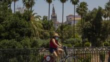 Una ciclista en Sevilla