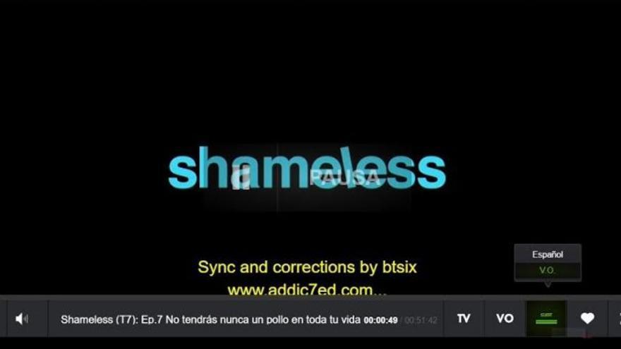Un capítulo de 'Shameless' apareció en Movistar+ con subtítulos hechos por un aficionado
