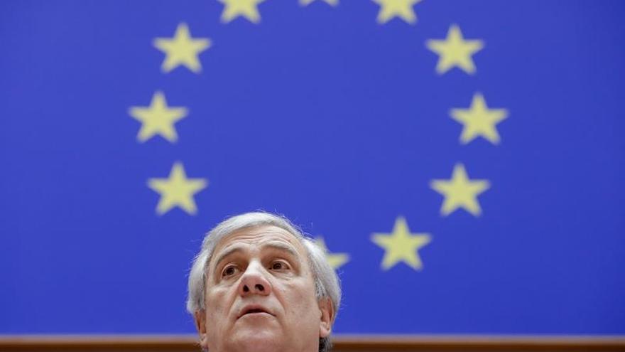 El presidente del Parlamento Europeo, el italiano Antonio Tajani, participa en una sesión plenaria en el Parlamento Europeo en Bruselas.