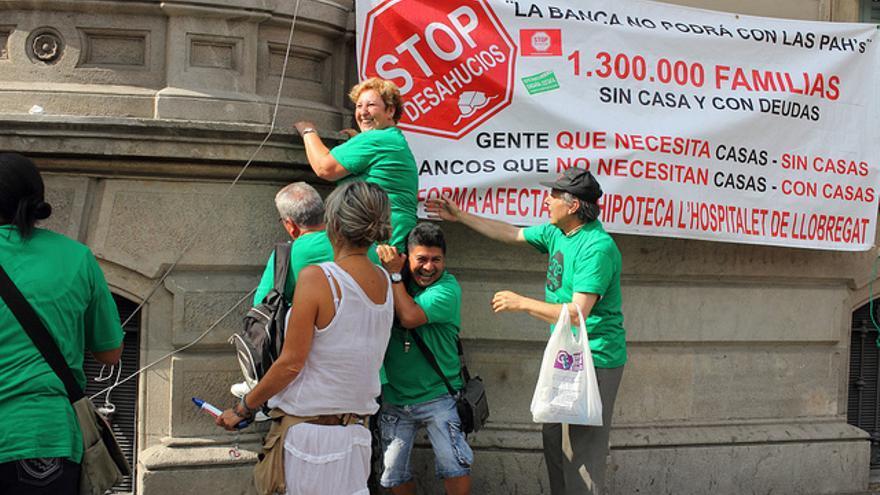 Manifestación contra los desahucios en Barcelona el pasado mes de julio / Person Behind the Scenes