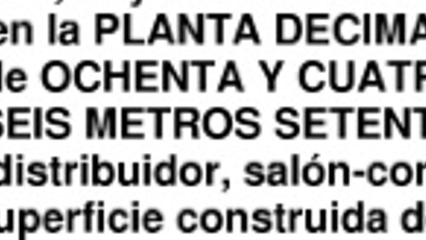 Descripción de la vivienda del alcalde de Burgos y su mujer, tal y como figura en el registro de la propiedad.