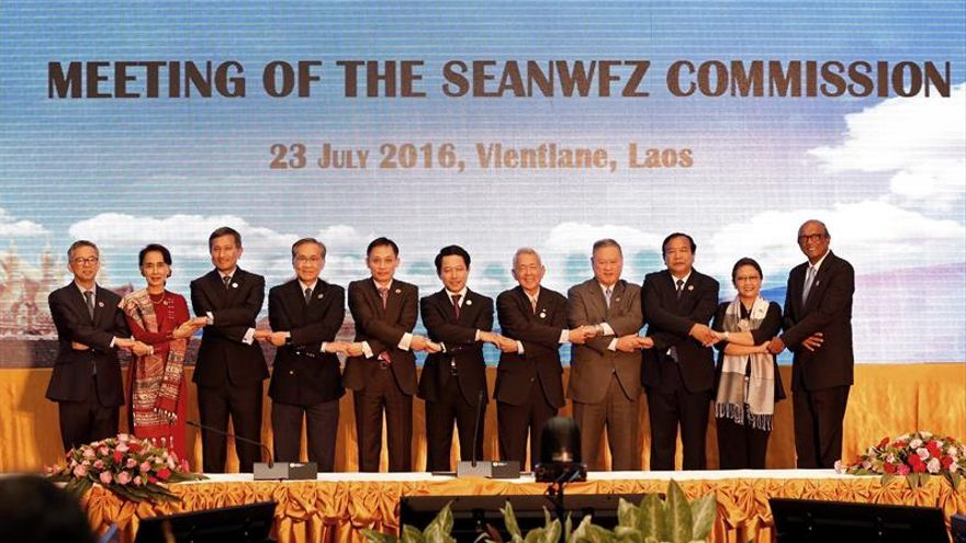 Seguridad y economía marcan la agenda de la reunión de ministros de la ASEAN en Laos