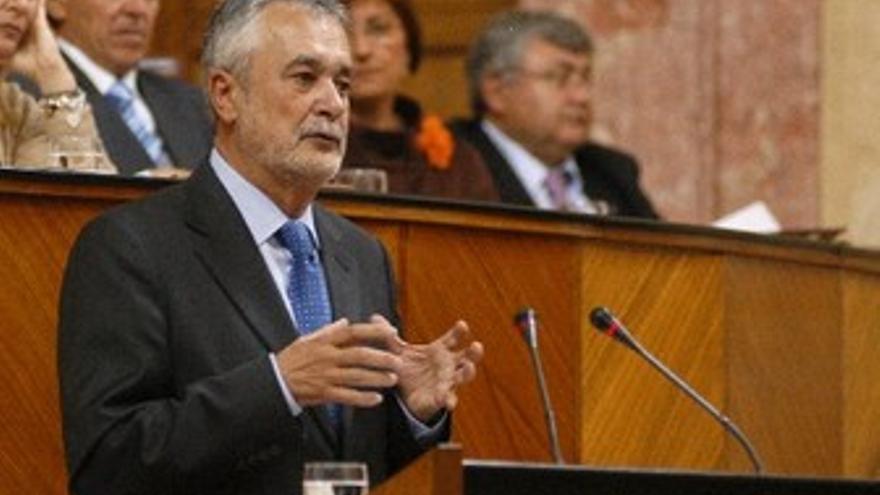 Griñán, en el Parlamento