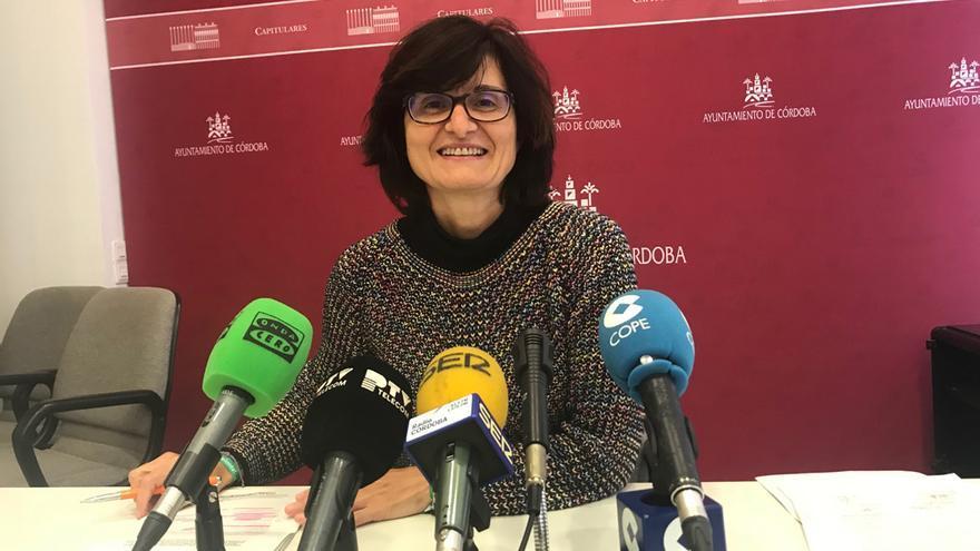 Amparo Pernichi, en la sala de prensa del Ayuntamiento.