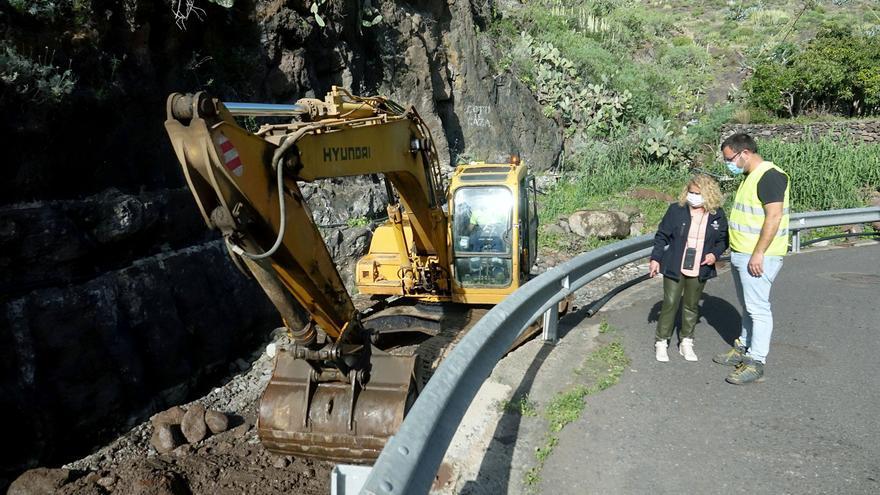 Vecinos de un caserío de Anaga claman una solución que evite el desbordamiento de un barranco que pone en peligro sus vidas