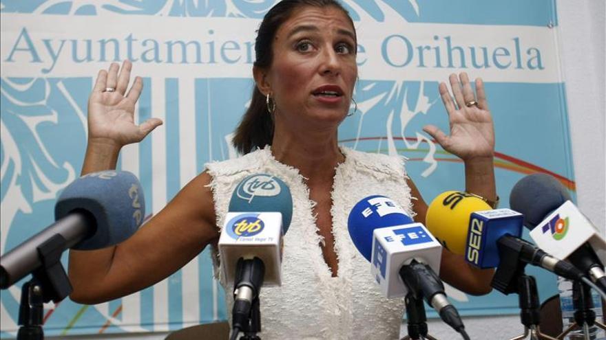 "La exalcaldesa de Orihuela (PP) no dimite al tener ""la conciencia tranquila"""