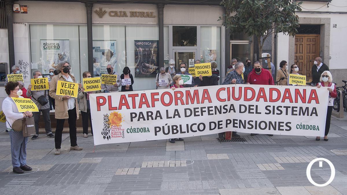 Concentración de la Plataforma en Defensa de las Pensiones