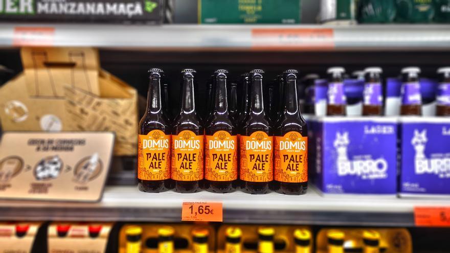 Cerveza Domus en supermercado