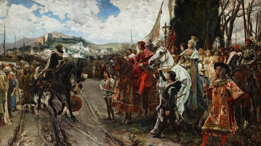 'La rendición de Granada', de Francisco Pradilla (1882).