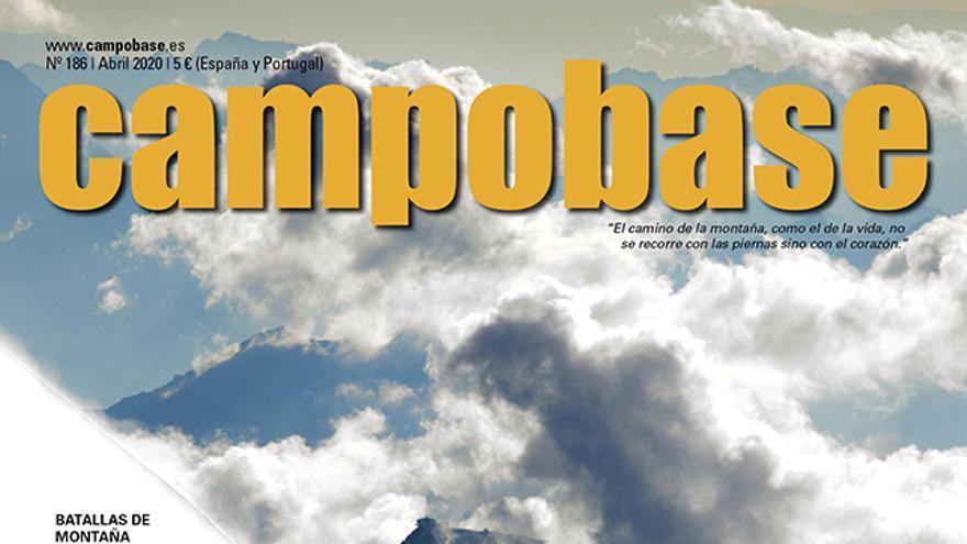 Número actual Campobase 0186_abril 2020 En portada,Caro North, Steph Davis, Thomas Senf y Jürg Ruf en la arista Mittellegi (Eiger).