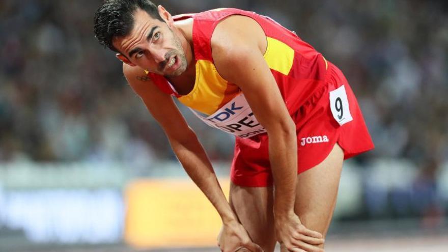 Kevin López no pudo lograr el sueño de la final de 800 metros