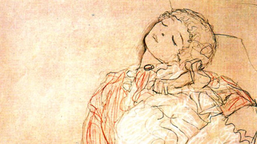 Dibujo de Gustav Klimt.