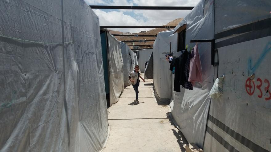 Imagen del asentamiento para mujeres y niños vulnerables ubicado en Arsal, en el noreste de Líbano.