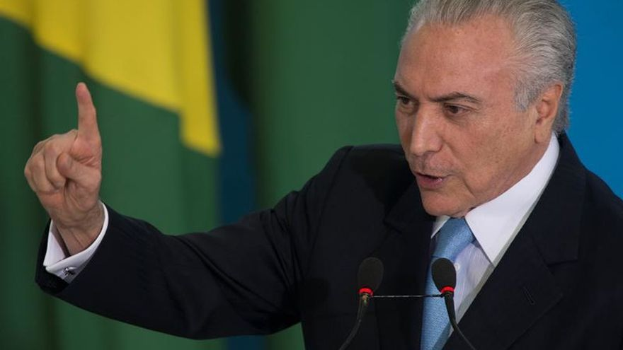 Temer viaja hacia Rusia en búsqueda de inversiones para un Brasil en crisis