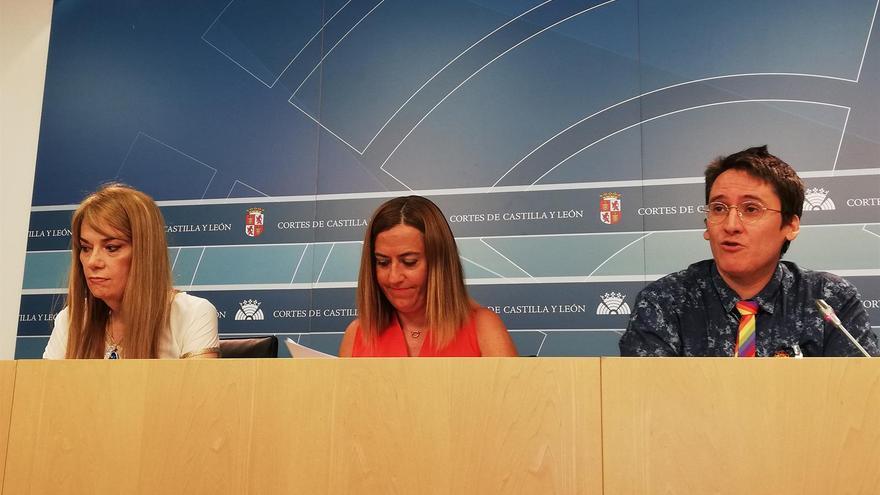 Amanda Azañón, Virgina Barcones e Ignacio Paredero, tras la reunión.