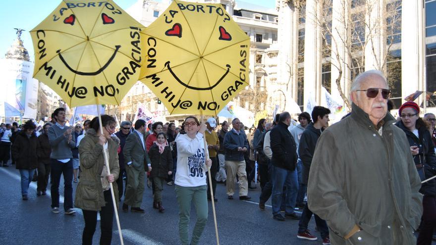 Manifestación antiabortista en Madrid. MERCEDES DOMENECH