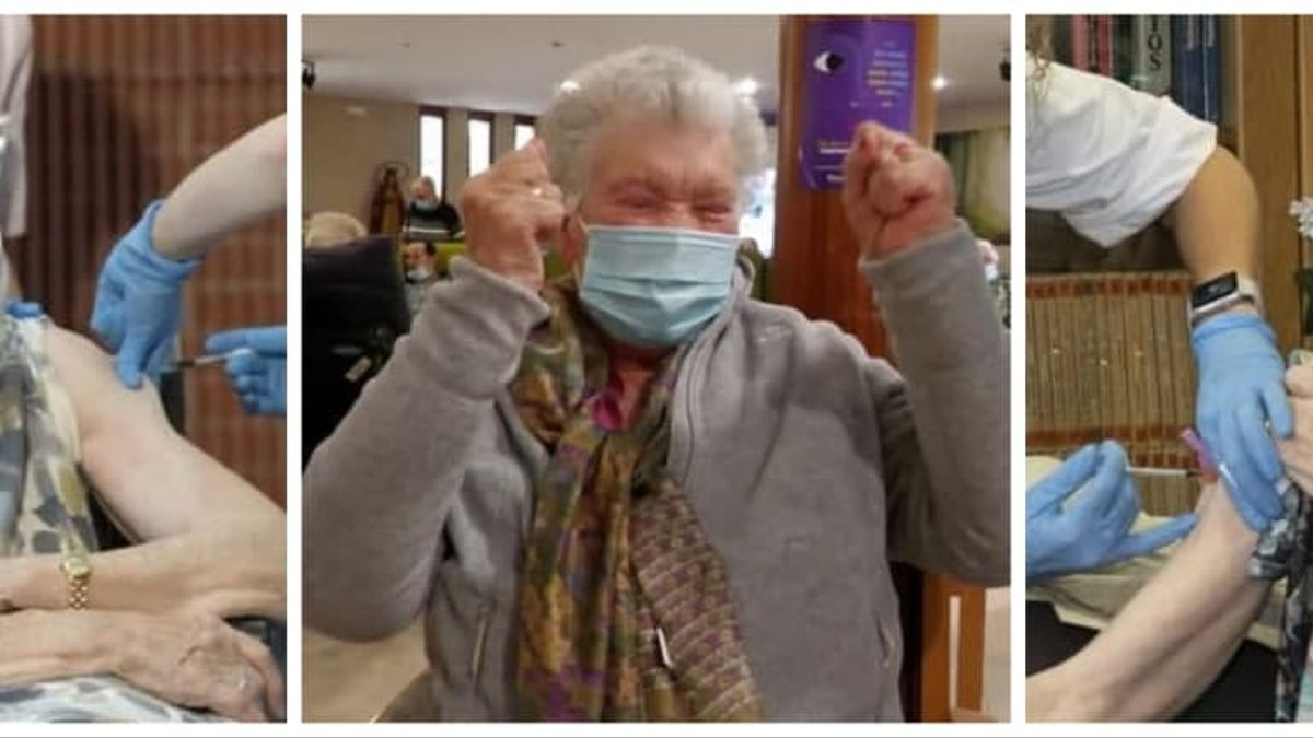 Consuelo Landa, Begoña del Olmo y Bernardina Escudero, primeras vacunadas en Euskadi