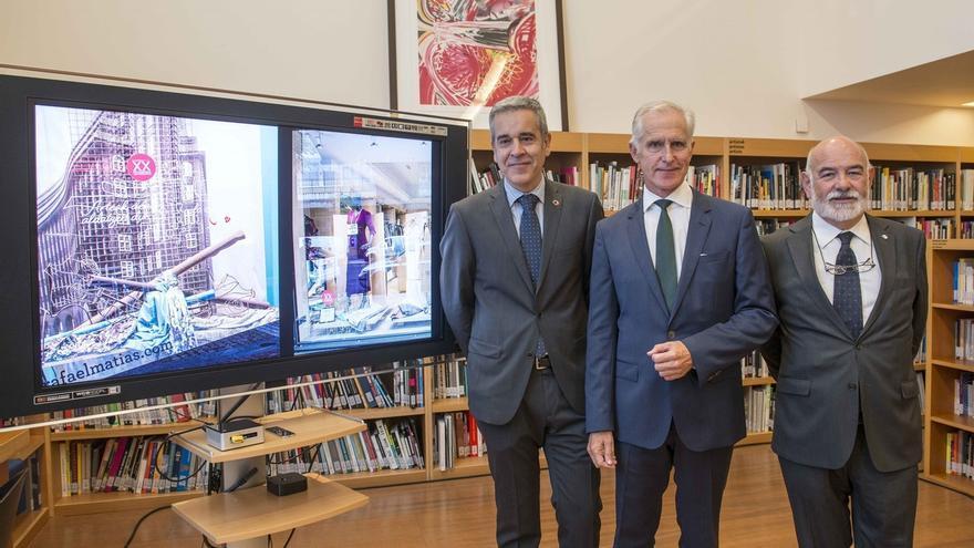 Comercios de Bilbao lucirán en sus escaparates un vinilo conmemorativo del XX aniversario del Museo Guggenheim