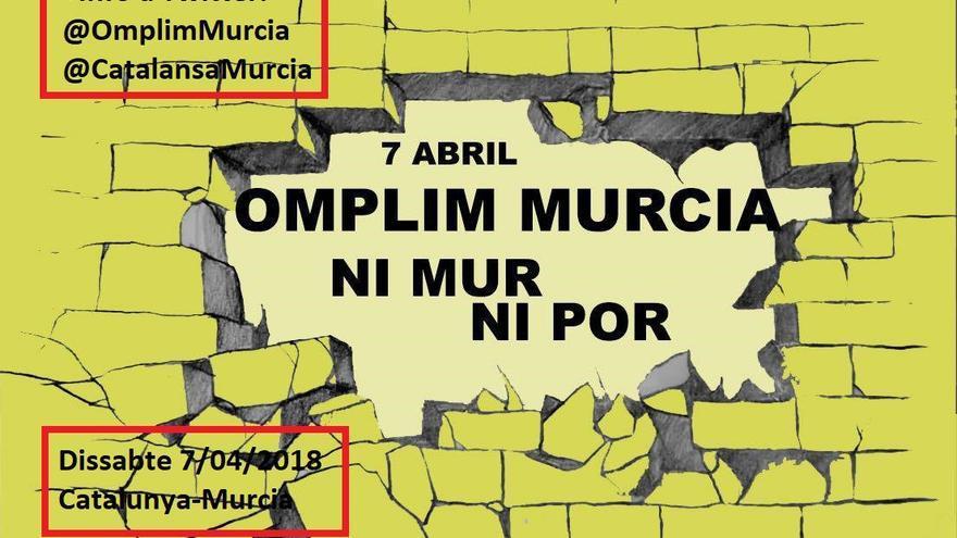 Manifestación independentista en las vías de Murcia