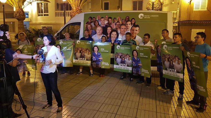 Candidata de Nueva Canarias (NC) a la alcaldía de Mogán, Isabel Santiago.