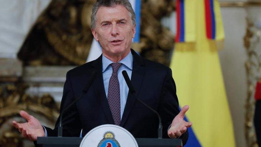 En la imagen, el presidente de Argentina, Mauricio Macri.