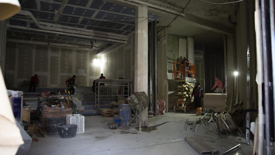 Interior de las obras de los Cines Embajadores