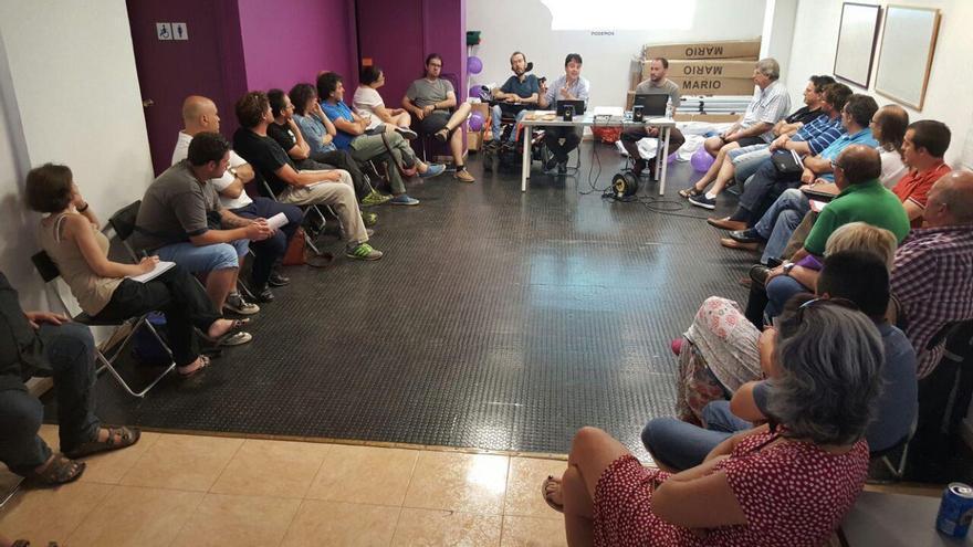 Reunión del Consejo Ciudadano de Podemos Aragón el pasado mes de julio.